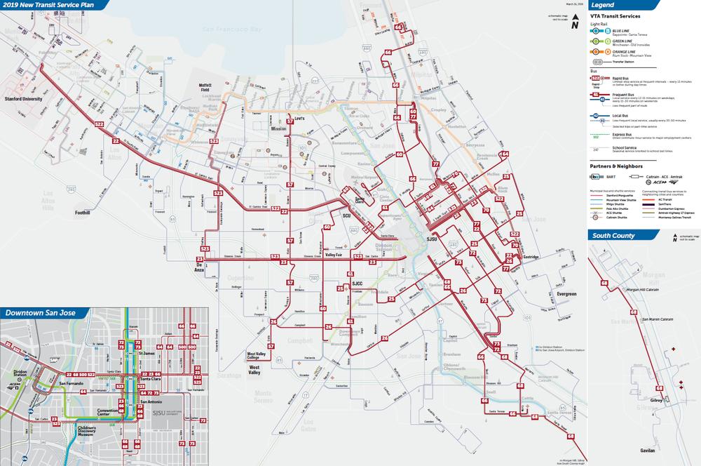2019년 새로운 최종 교통 서비스 계획 빈도 노선 지도  (PDF)