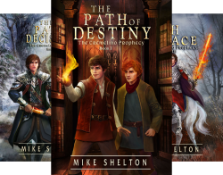 The Cremelino Prophecy series by Mike Shelton