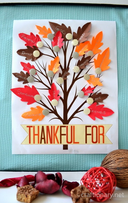 Thankful Tree from Craftionary