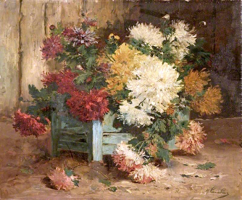 Dahlias in an Urn , Eugene Henri Cauchois, Date Unknown