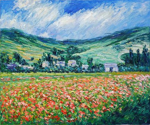 Poppy Field Near Giverny , 1885, Monet