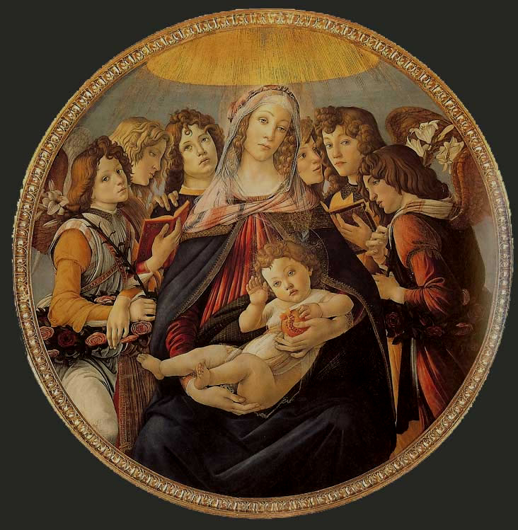 Botticelli, c. 1487, The Madonna of the Pomegranate