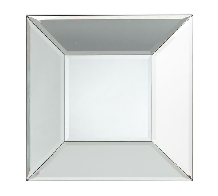 bevel square mirror  - $149