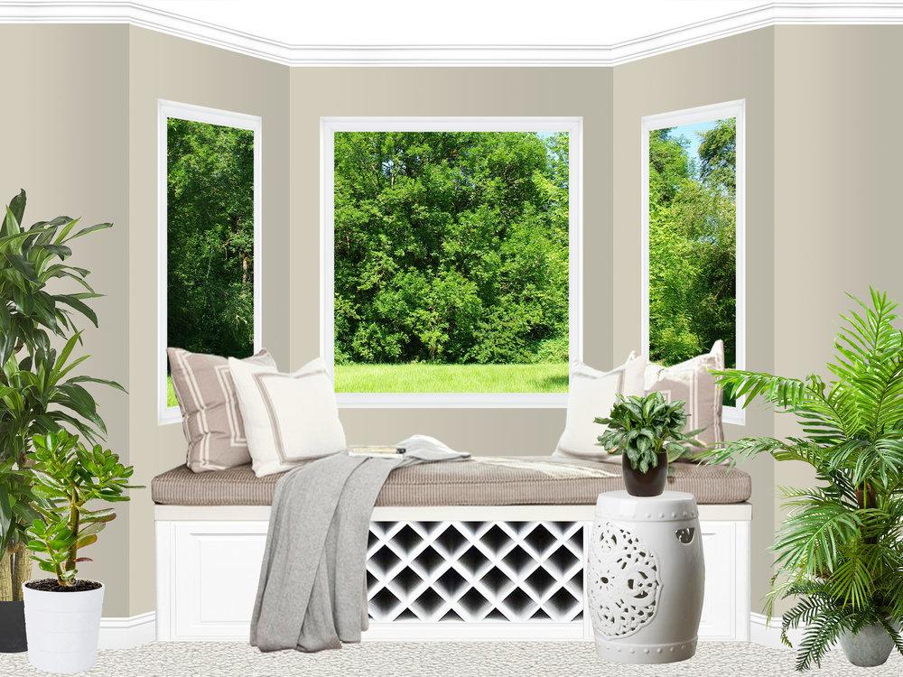 Safavieh Floral Garden Stool : White : $120