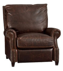 james leather recliner  :  legacy chocolate  $1799