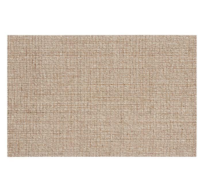 Chunky Wool & jute rug : natural : 3' x 5' : $219