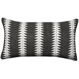 black and white throw pillow -