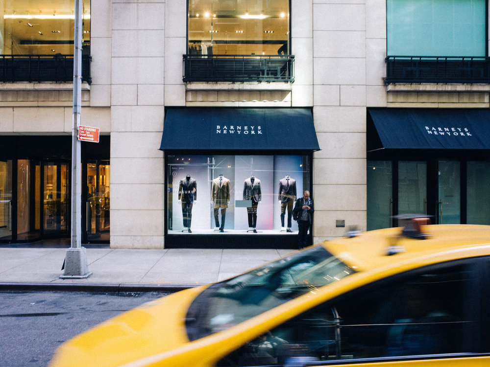 Barneys New York storefront.