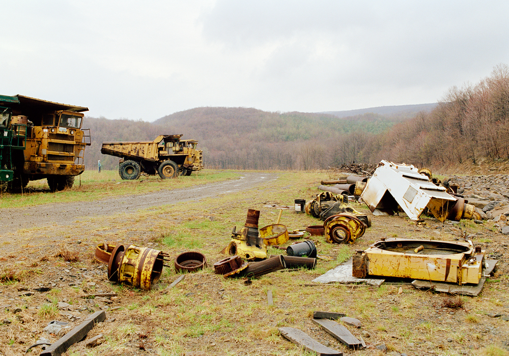 discarded mining equipment