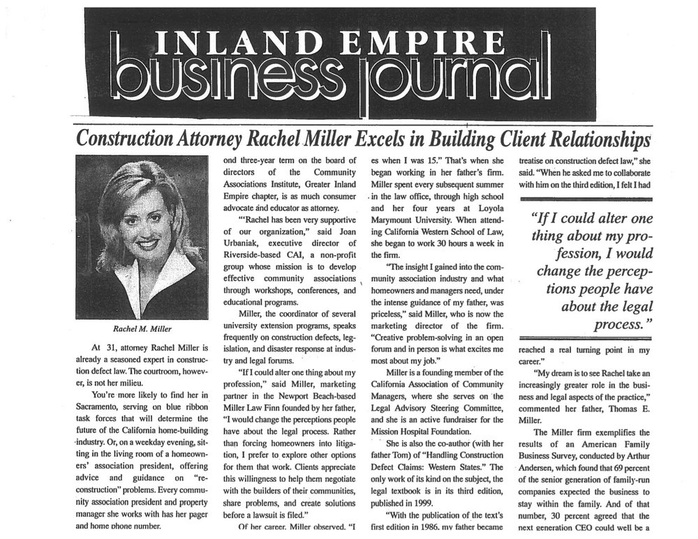 Inland Empire Business Journal - Construction Attorney Rachel Miller Excels in Building Client Relationships.jpg