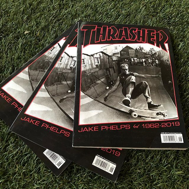 RIP #jakephelps. Latest issue of @thrashermag is at Premises. Come read some of the great stories people have shared.
