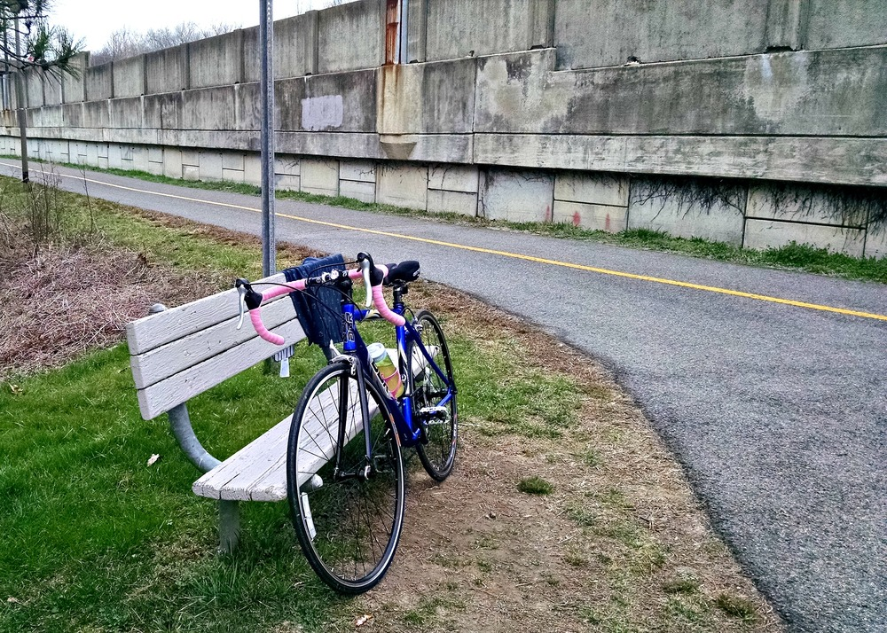 W&OD trail in Arlington.  Not the prettiest section of the trail, but it is another milestone for Furthest East I've ever ridden