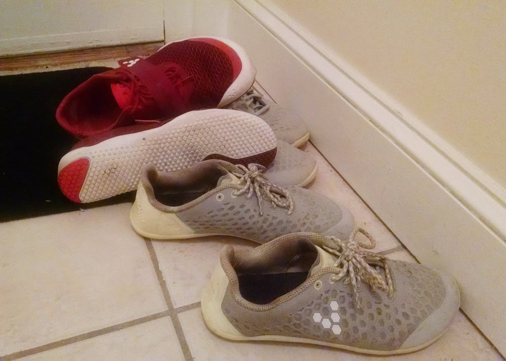 All the running means all the shoes in rotation.  Clearly I'm a vivobarefoot girl