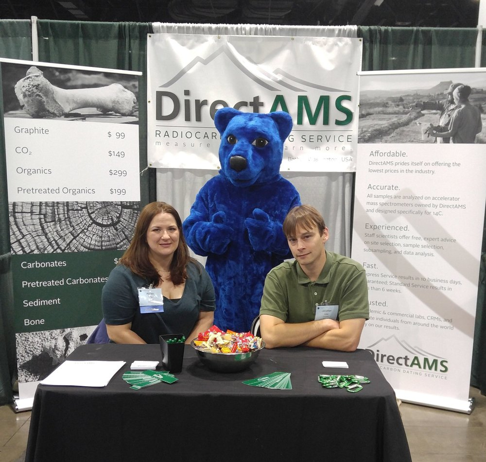 Alyssa T. and Jonathan A. at GSA, 2016 with the Colorado Convention Center Blue Bear.