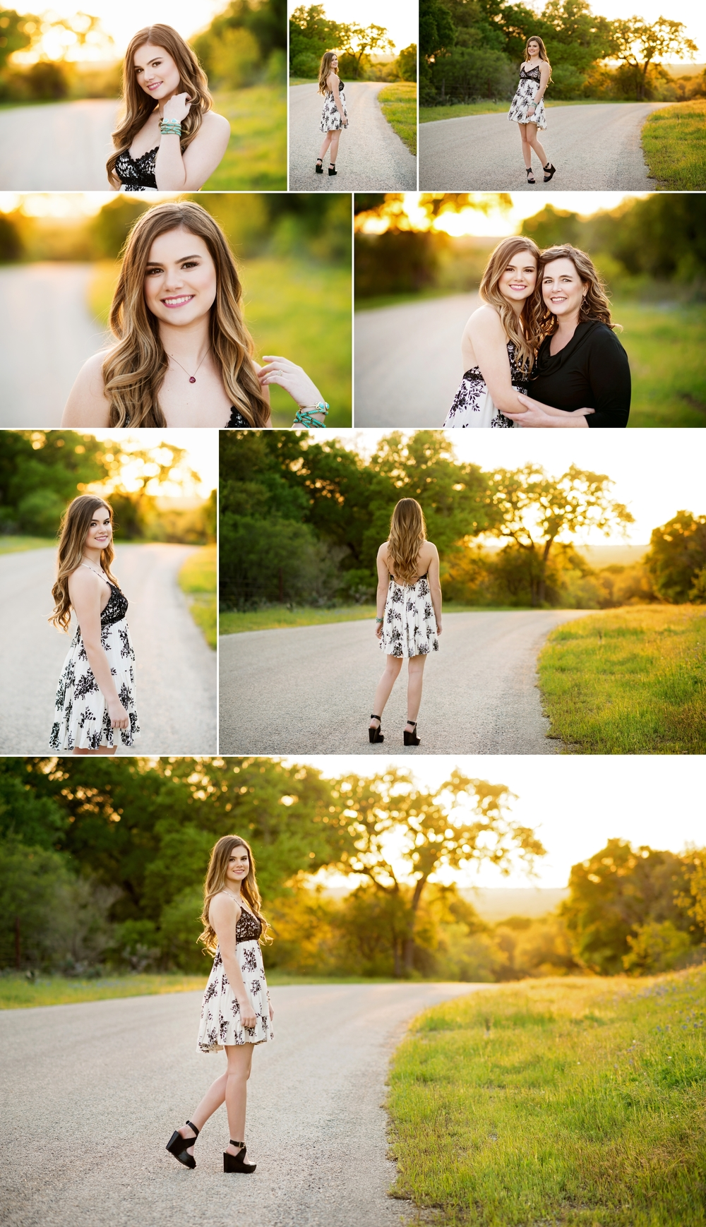 Austin High, Senior Portrait ideas, country road, sunset, country road, sundress, Kyle, TX, Heidi Knight Photography.jpg
