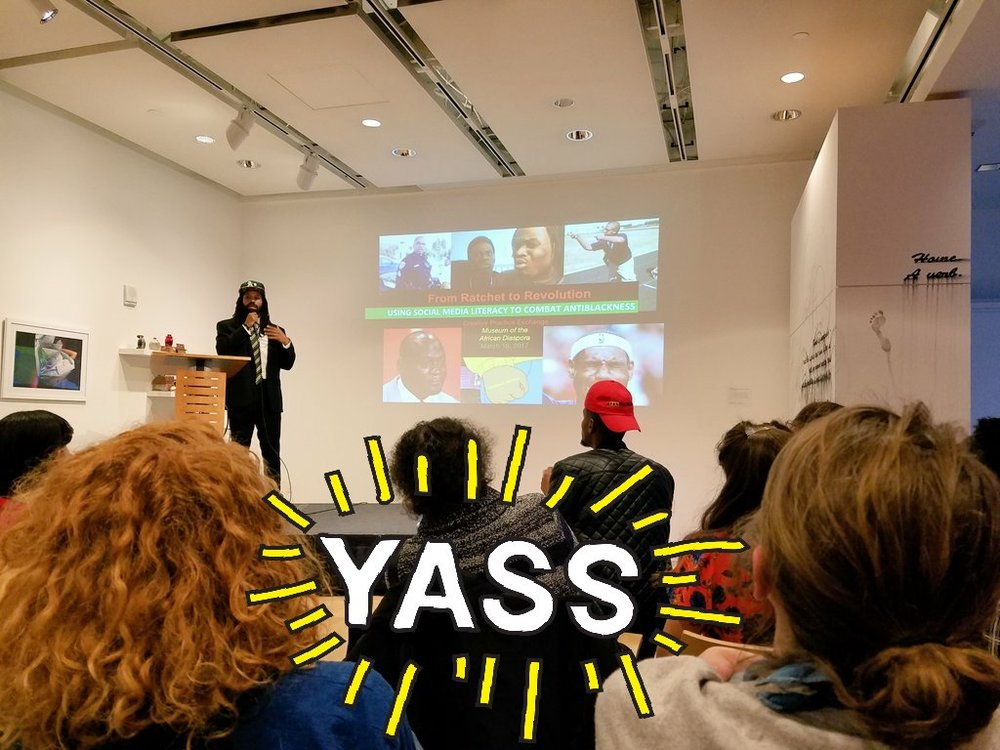 Emerging Arts Prof. ‏ @ emergingarts    16 Mar 2017  At  @ artsedalliance   Creative Practice Exchange ... So awesome to learn more about  @  Rasheed _Shabazz   pedogagy! Go  # eapfellows    @ MoADsf