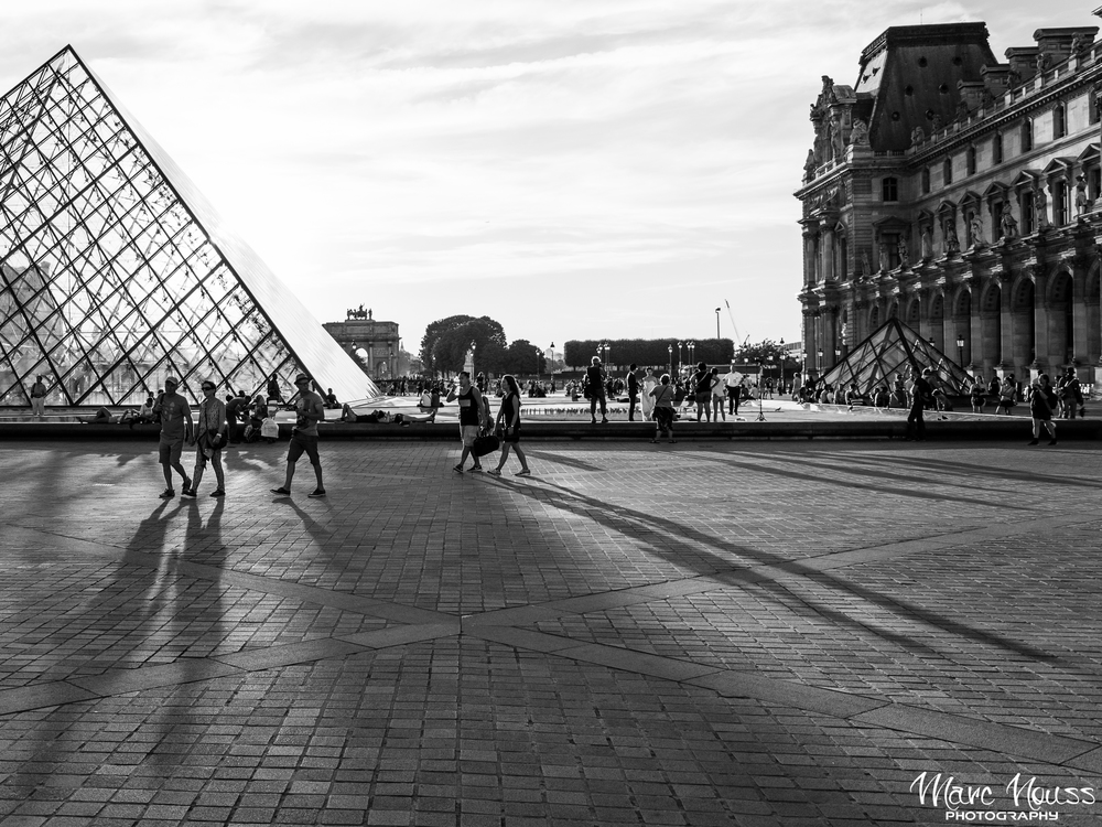 Shadows over the Louvre Museum