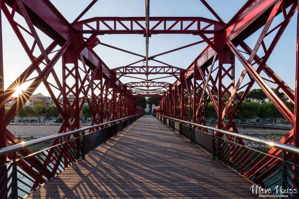 Sunburst on the bridge!