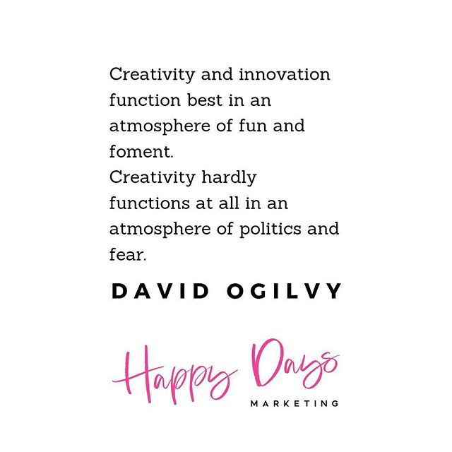 "David Ogilvy, known as the ""Father of Advertising"" knew a thing or two. @ogilvy 💓 I've seen this play out in my own career as well. Agencies run like a tyranny diminish and sadly fall apart. Whereas those who've discovered their ability to lead with fun, and inspiration, and who continue education, coaching and learning among those on their entire team are those who'll succeed. 💓 Inspire creativity and action in your business! Continue building those around you up higher and higher. You cannot move upward if you haven't groomed someone behind you to take your place. 💓 Your Chief Virtual Marketing Officer, @ashyfons . . . . . . . . . . #happydays  #inspiration  #livingwithcolor #calledtobecreative  #orlandoflorida #designalifeyoulove  #creativepreneur  #orlandoagency  #marketingplan  #supportlocalbusiness  #orlandobusiness  #smallbusiness  #femaleowned  #smallbusinessowner  #bossbabe  #shemeansbusiness  #virtualmarketingofficer  #prettypowerful  #digitalmarketingagency  #marketingcoach  #smallbizowner  #socialmediaguru  #creativelifehappylife  #girlboss  #socialmediaagency  #eventmanagement  #floridaagency  #floridafempreneur  #digitalbusinessowner  #femalefounder"