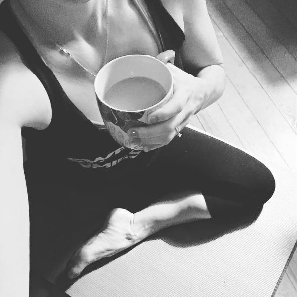 Yoga instead of eating ice cream