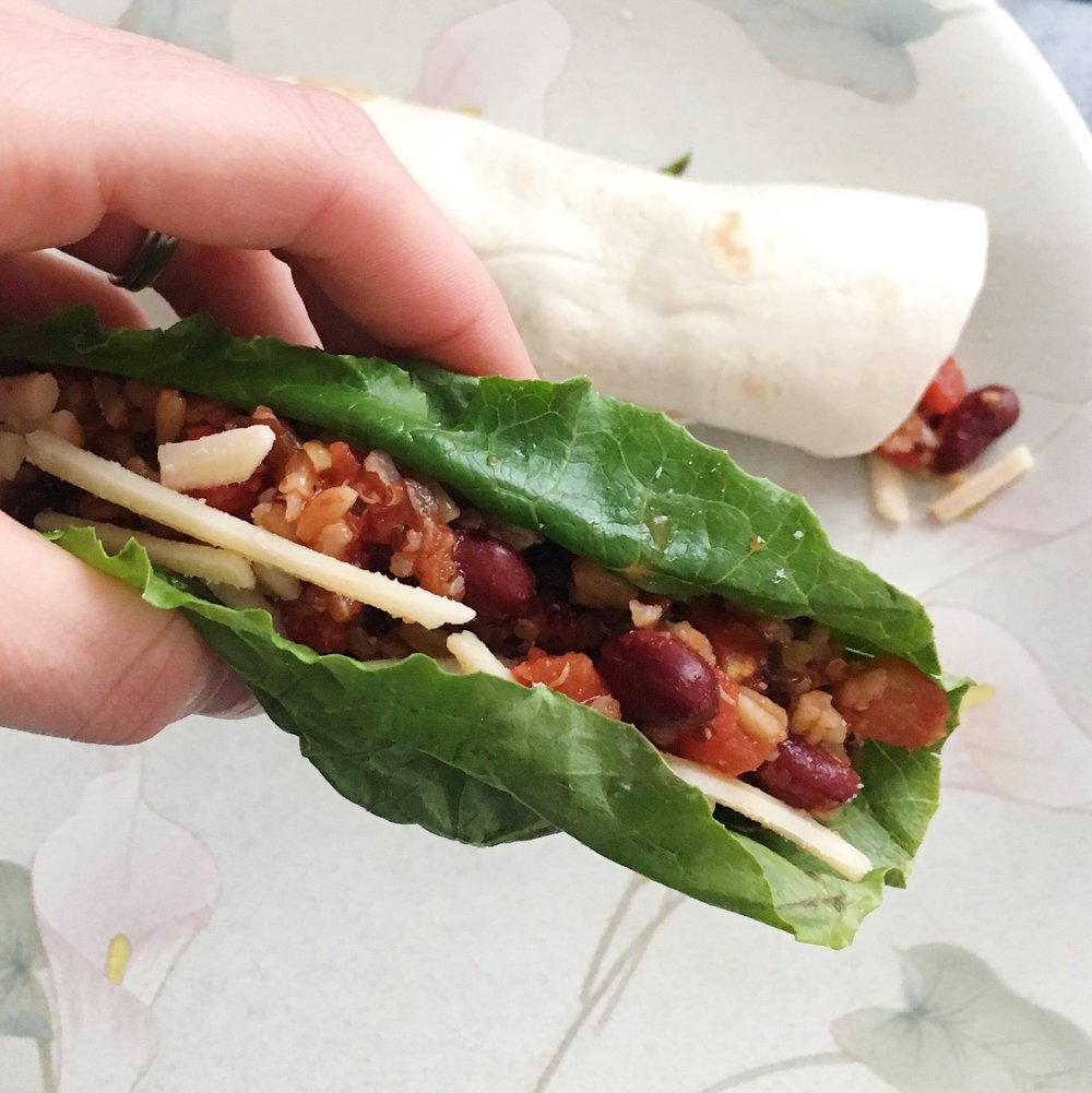 3 Ingredient Vegetarian Dish- Wrap it up!