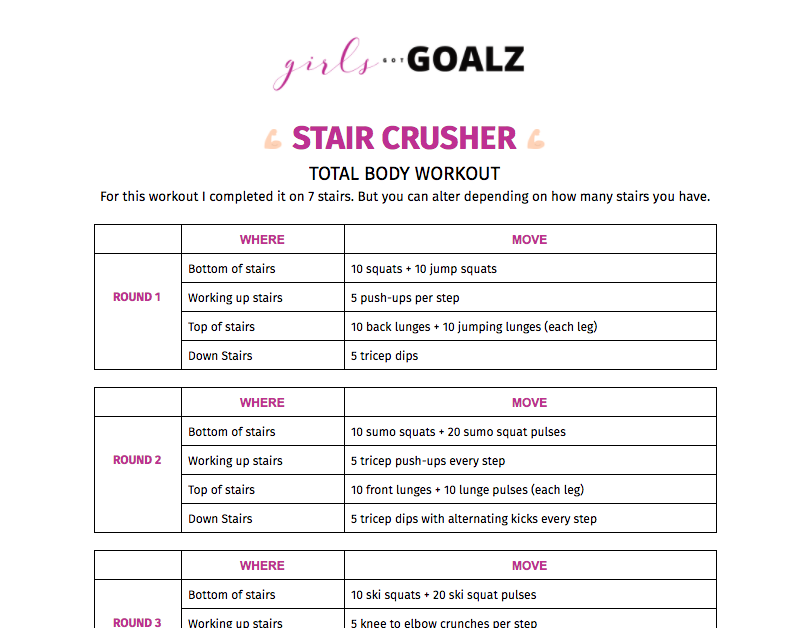 Girls Got Goalz Stair Crusher Workout