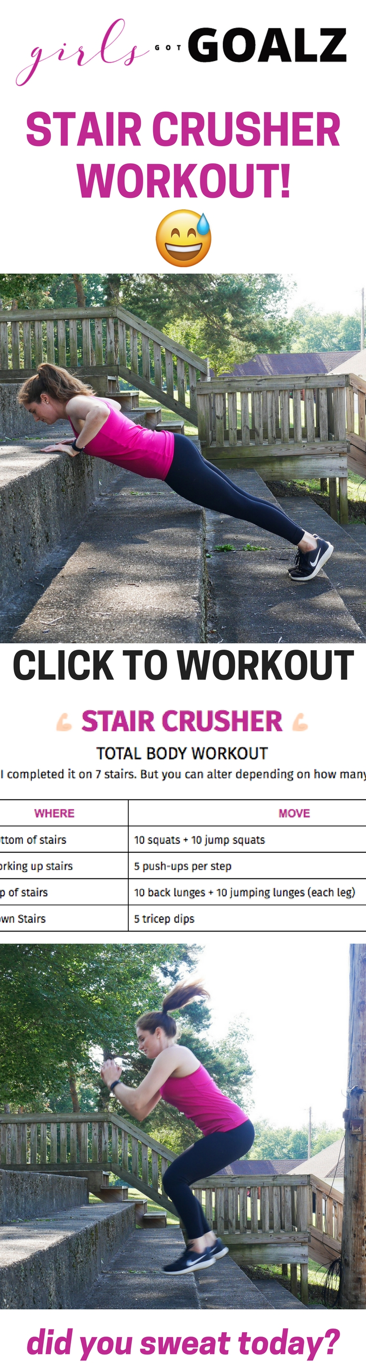 Stair Crusher Workout from Girls Got Goalz!