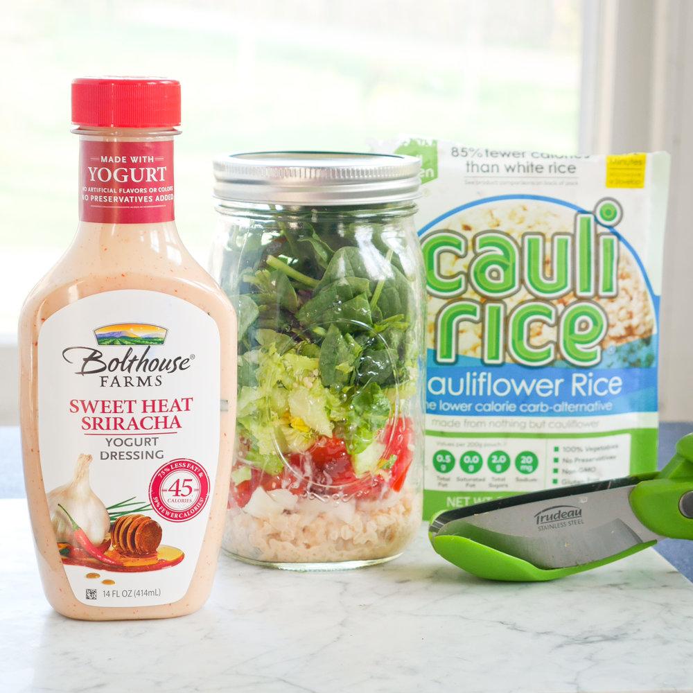 Sweet Heat Cauli Rice Salad from Girls Got Goalz