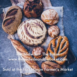 Midwife and Baker has Millie | Lottie Totes at the farmer's market