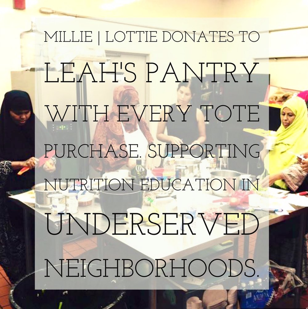 Millie | Lottie donates to Leah's Pantry - GIVE BACK