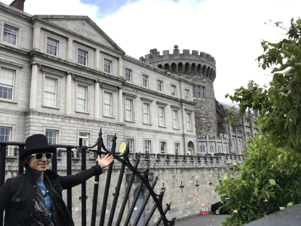 Alex next to the Dublin Castle
