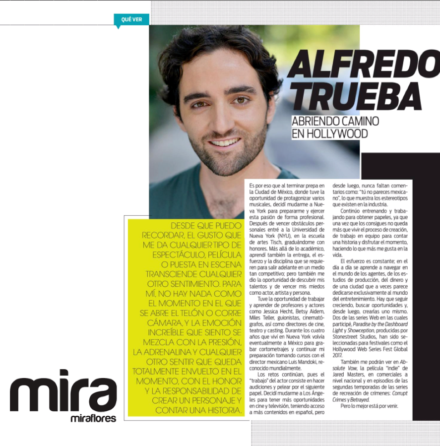Mira Magazine Profile - Abriendo Camino en Hollywood