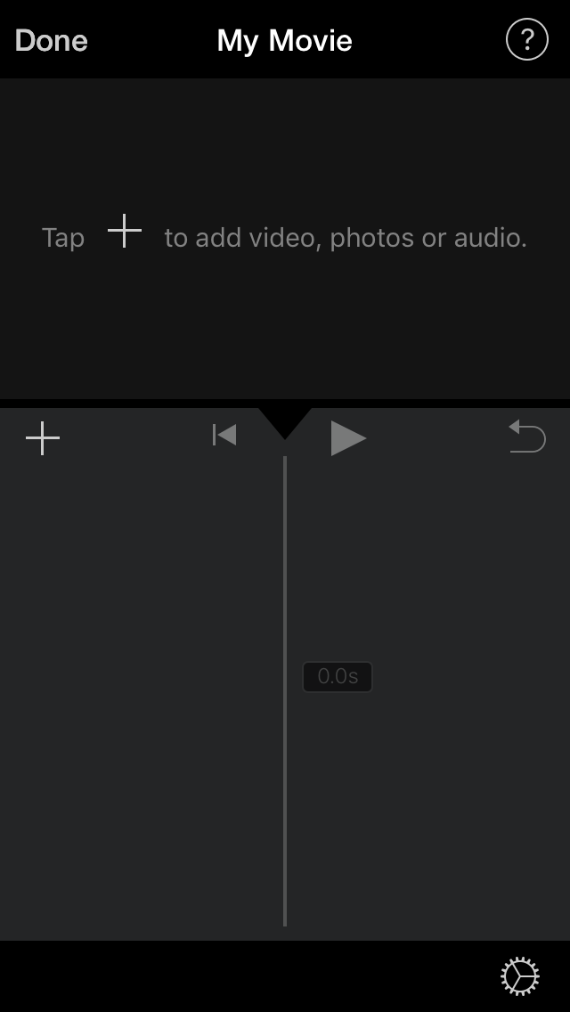 c.  Tap the + sign to add your videos into the edit