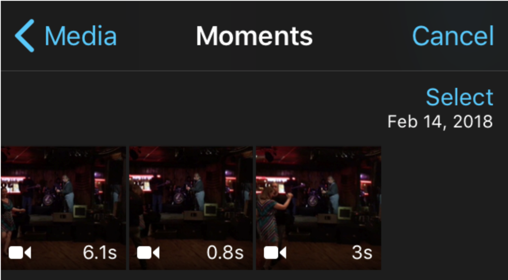 d-e.  Select your videos in chronological order to add into the edit