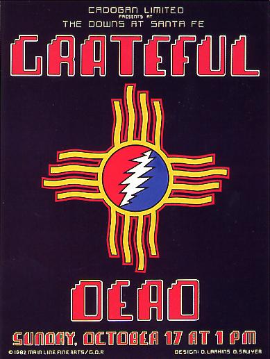Grateful Dead, Santa Fe, 1982