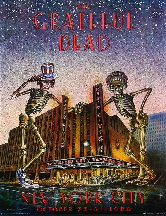 Grateful Dead, Radio City Music Hall, NYC, 1980