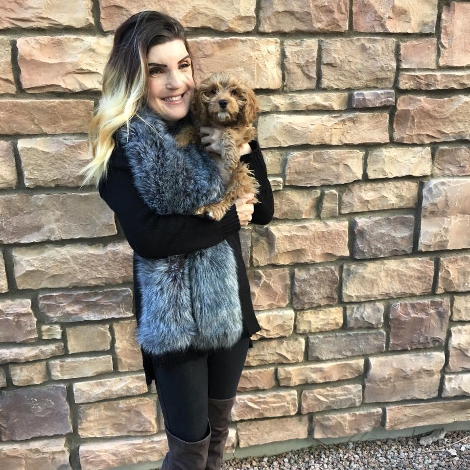 Black Sweater,   Leggings , Faux Fur Stole