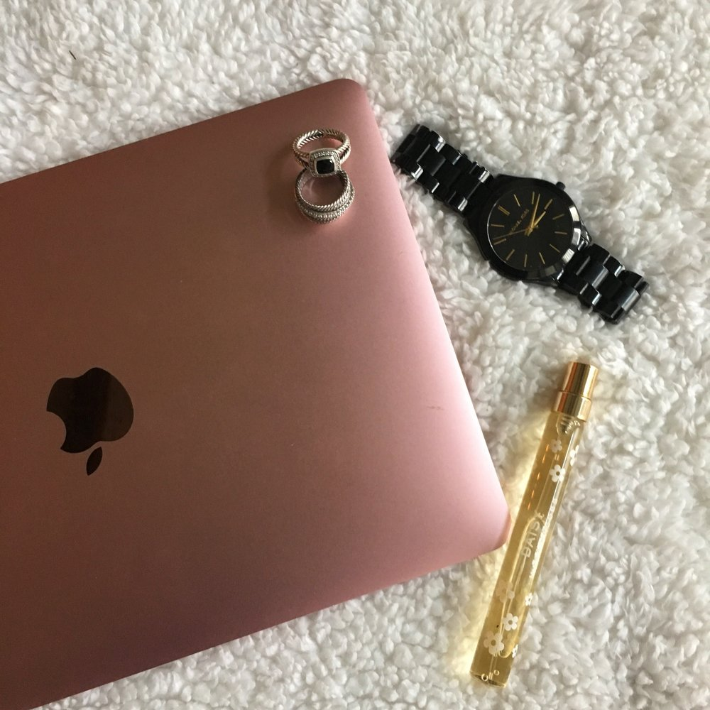 Laptop ,  Rings,   Perfume ,  Watch
