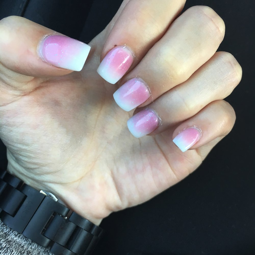 """Ask for """"Ombre French Manicure"""" to get this look"""