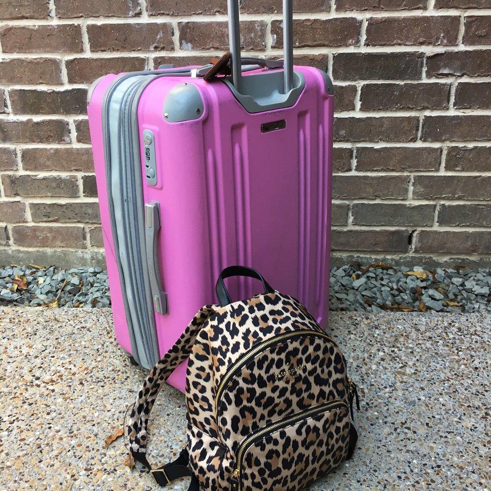 Suitcase ,  Similar Leopard Backpack