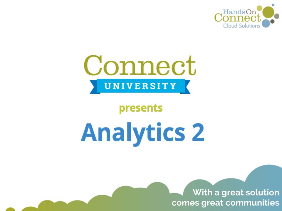 Analytics - Part 2