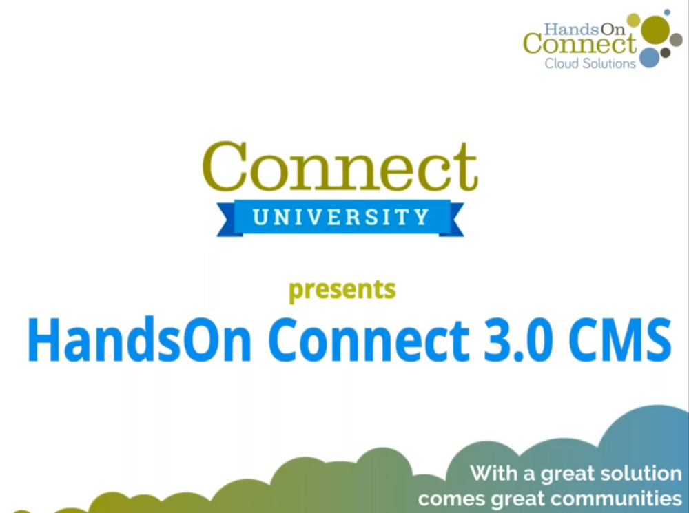 HandsOn Connect 3.0 CMS (Part 1)