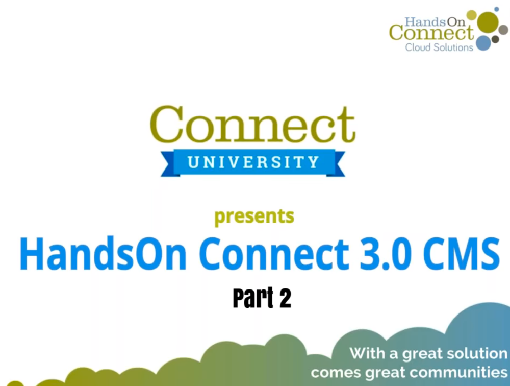 HandsOn Connect 3.0 (Part 2)