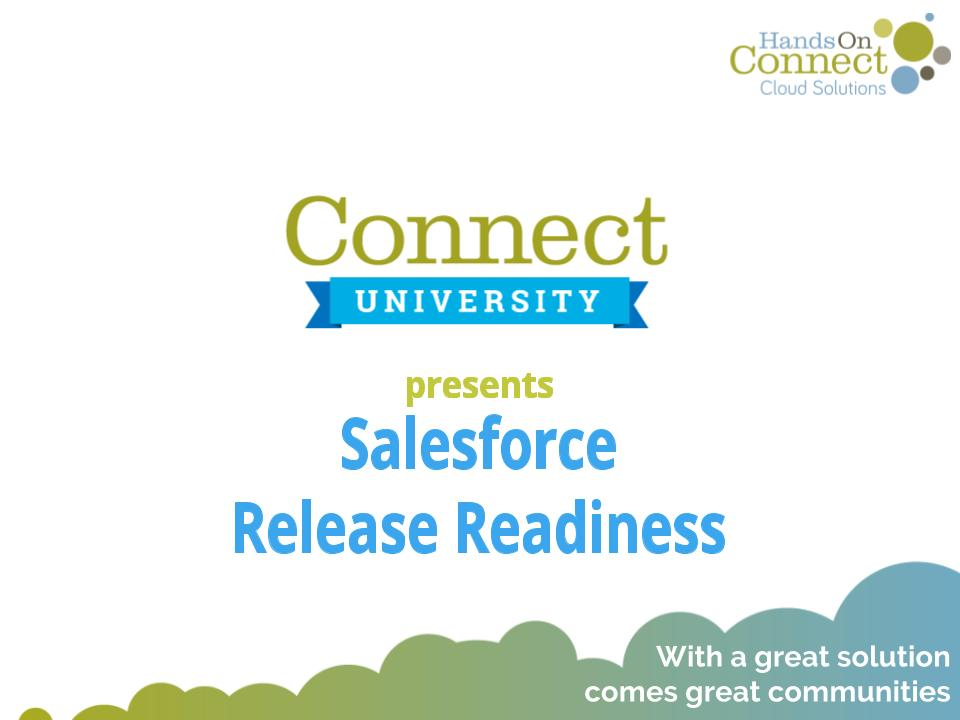 Salesforce Release Readiness