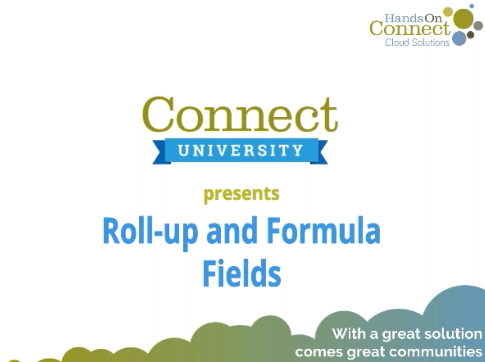 Roll-up and Formula Fields