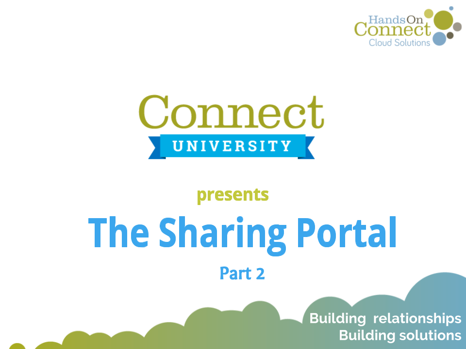 The Sharing Portal (Part 2)