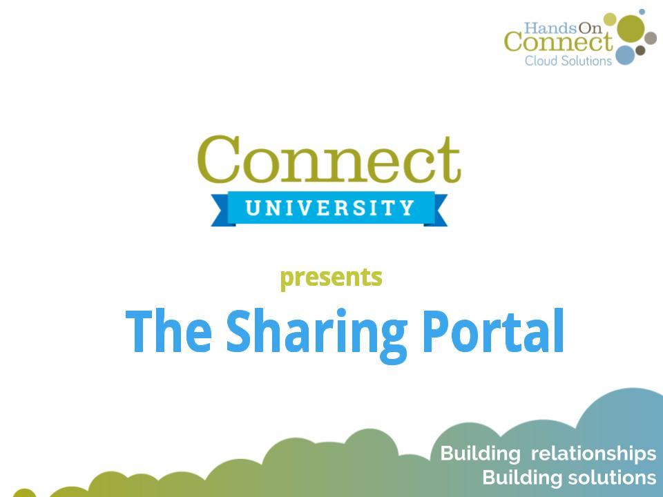 The Sharing Portal I