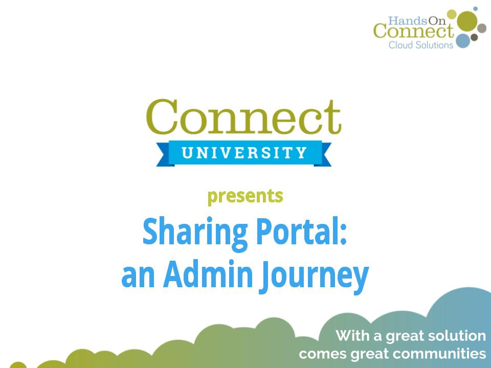 Sharing Portal: an Admin Journey
