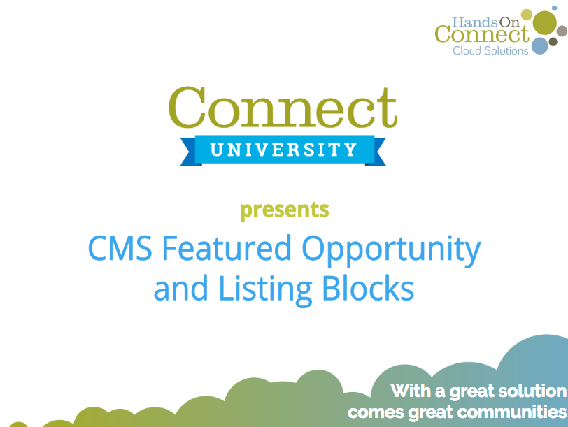 CMS Featured Opportunity and Listing Blocks