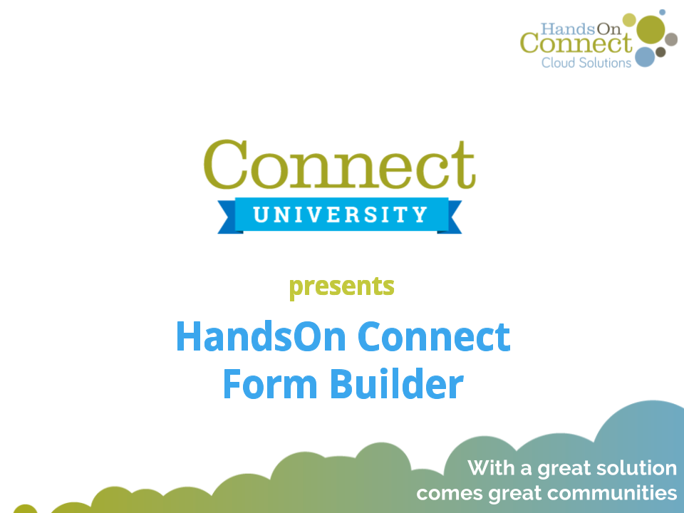 HandsOn Connect Form Builder